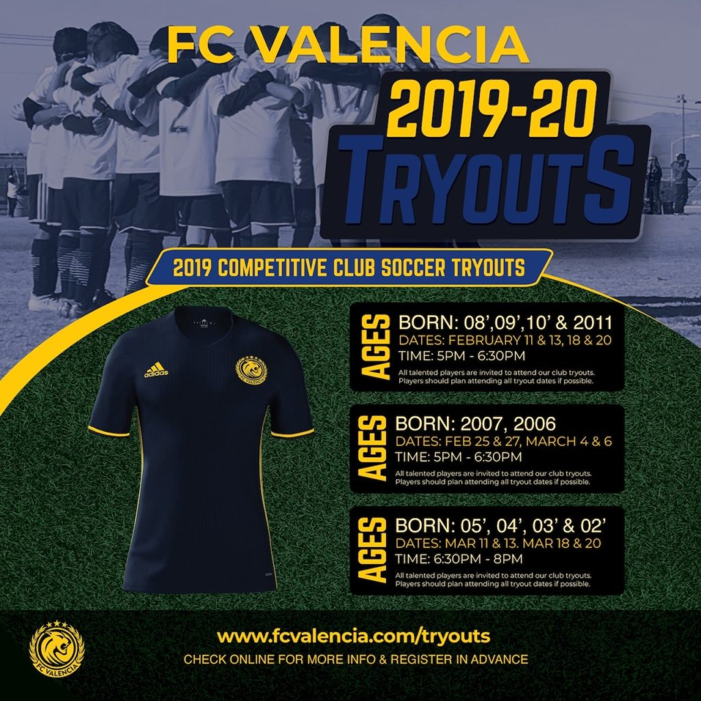 2019-20 FC Valencia Tryouts